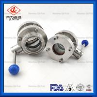 Cheap 304 316L Stainless Steel Butterfly Valve Flange Ends Manual Butterfly Valve wholesale