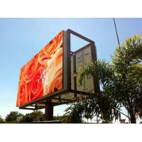 Cheap Steel / Iron Material Outdoor Advertising LED Display Billboard 1R1G1B With Back Access wholesale