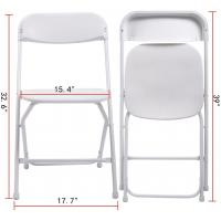 Cheap Indoor Outdoor Plastic Folding Chair Stackable White Events Commercial Chair wholesale