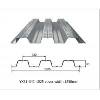 Cheap Galvanized Metal Floor Decking Sheets 38 - 113 Mm Wave Height 60 - 275g/M2 Zinc Weight wholesale