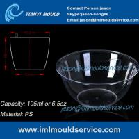 Cheap 200ml thin wall PS disposable plastic ice cream bowls injection mould with lids wholesale