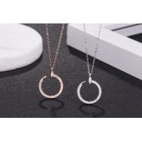 Buy cheap 925 Sterling Silver CZ Nail Ring Pendant Necklace Cartier Brand Jewelry from wholesalers