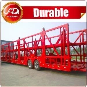 Cheap 2axle heavy duty Hydraulic Car/ Vehicle folding car trailer for sale wholesale
