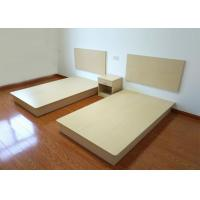China Customized Buget Hotel Contract Furniture Bed Melamine Laminated Board With PVC Edge on sale