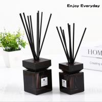Cheap Square Home Reed Diffuser Wooden Bottle Cap Pure Natural Fragrance Reed Diffuser wholesale