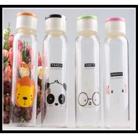 Cheap 2015 Promotional Christmas Gift glass water bottle with any simple elegant logo and color wholesale