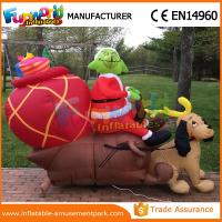 Cheap Giant Waterproof Custom Inflatables Christmas Replica Inflatable Grinch With Repair Kits wholesale