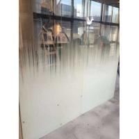 Buy cheap Tempered shower enclourses, office partions, acid etched glass, frosted glass, from wholesalers