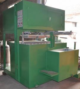 China Small Semi Automatic Egg Tray Machine PLC Control Egg Box Making Machine on sale