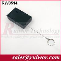 Coiled Security CableWith Key Ring , Retail Stores Cell Phone Security Cable