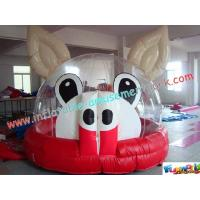 Cheap Outdoor Commercial grade 0.55mm (1000D, 18 OZ) PVC Tarpaulin Jumping Castles for Kids wholesale