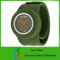 Cheap OEM / ODM Slap Watches, Silicone Wristband Watch With Colorful Dial wholesale