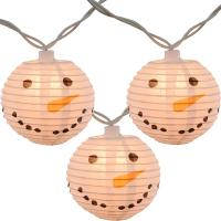 Cheap Led Paper Lanterns Hanging Outdoor String Lights 8 Cm Square Snowman Shaped wholesale