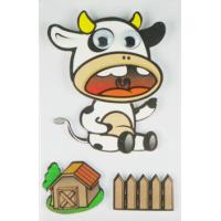 Cheap Cow Design Kids Scrapbook Stickers , Custom Die Cut Stickers 1.0 Mm Thin wholesale
