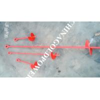 Cheap Red Painted Metal Earth Screw Ground Anchors For Retaining Walls wholesale