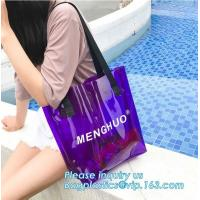 Cheap Recyclable Biodegradable Shopping Bags PVC Clear Shopping Gift With Card Header wholesale