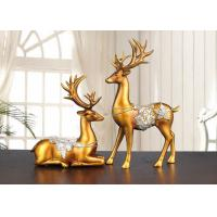 Cheap Christmas Reindeer Resin Arts And Crafts Home / Hotel Decoration Use wholesale