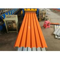 Cheap Orange Color Powder Coated Corrugated Steel Roofing Sheets / Corrugated Metal Panels wholesale