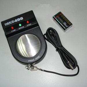 Cheap Black 498 static wrist strap tester, system tester static measurement wholesale