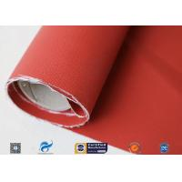 Cheap 580gsm 260℃ Fiberglass Cloth Thermal Insulation Jacket Fabric Silicone Coated wholesale