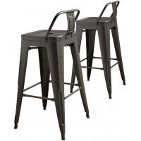 Cheap Chic Dining Bistro Cafe Stackable Metal Restaurant Chairs , Stackable Metal Dining Chairs wholesale