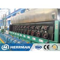Al Alloy Wire / Copper Rod Drawing MachineWith Dual Bobbin Take Up High Potency