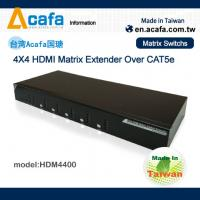 China 4*4 1080P HDMI Matrix Switch Extender over IP with RS232/IR on sale
