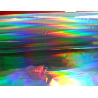 Cheap printable seamless rainbow pattern PET holographic lamination film with primer coating wholesale