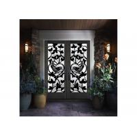 Buy cheap Stylish & Elegant  Wrought Iron Entry Doors And Glass Agon Filled 22*64 inch Size Durable from wholesalers
