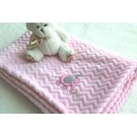 Cheap China Factory Wholesale Pink Color Embroidered Baby Blankets for Kids wholesale