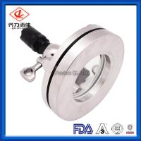 Cheap Food Grade Sanitary Tank Fittings Flange Sight Glass With Light Indicator wholesale
