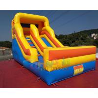 Cheap Commercial Inflatable Dry Slide Bouncer For Kids And Adults / Blow Up Land Slide wholesale