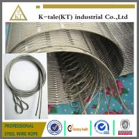 Cheap 304 Hand-woven Stainless Steel Wire Rope Mesh for stair frames wholesale