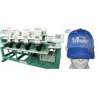 """Cheap 4 Heads 9 Needles Computerized Embroidery Machine For Cap / T-shirt , 5"""" LCD wholesale"""