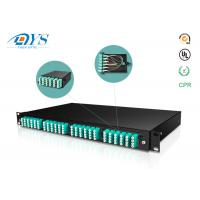 Cheap 1U 2U 3U 4U fiber optic management Cassette MPO MTP Patch Panel Fiber Optic High Density Rack Mount wholesale
