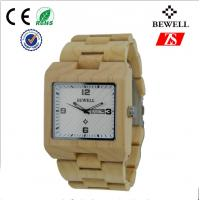 Big Face Tense Wood Watch , 100% Natural Wooden Watch For Women And Girl