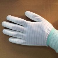 Cheap stripped ESD anti static PU coated gloves for electronic factory use wholesale