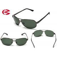 Cheap Classic Green Mirror Lens Aviator Sunglasses , Anti Reflective Coating Pilot Glasses wholesale