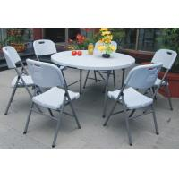 sell 4 foot round fold in half tableplastic folding tablezy