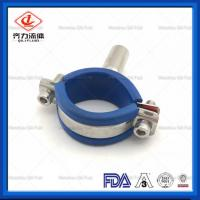 Cheap Anti Rust Stainless Steel Pipe Holder With Insert Blue Rubber Round Type wholesale