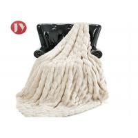 Cheap Luxurious Faux Fur Throw Blanket Super Soft Fuzzy Cozy Plush Fluffy Elegant Blanket with with Reversible fleece Throw wholesale