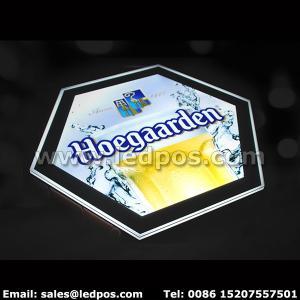 Cheap Hoegaarden Beer Light Box Illuminated Bottle Sign for sale