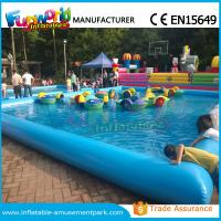Cheap Customized Inflatable Water Pool / Swimming Pool With Paddle Boat CE Approval wholesale