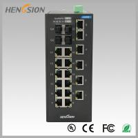 Cheap 18 Electric port + 4 Gigabit FX fiber optic 28 Port Switch , Industrial Ethernet Switch wholesale