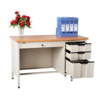 Cheap H780 Office Metal Reading Table With Drawer Teacher Steel Computer Table wholesale