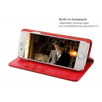 Cheap Antidirty 5.5'' Apple iphone Leather Case / Red leather folio case iphone 6s plus wholesale