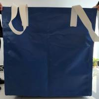 Cheap Square Waterproof Recycled Jumbo Bag Flat Bottom / Side Discharge Design 500kg - 1500kg wholesale
