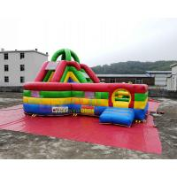 Cheap 6x4x3.5 Meter Inflatable Bouncer Slide Obstacle Course Jumping Castle wholesale