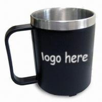 Cheap Stainless Steel Mug with AS Outer Material, Skid-resistant Bottom and 8oz Capacity wholesale