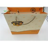 Cheap Eco Friendly Cardboard Shopping Bags With Round String Handles , Printed Your Own Logo wholesale